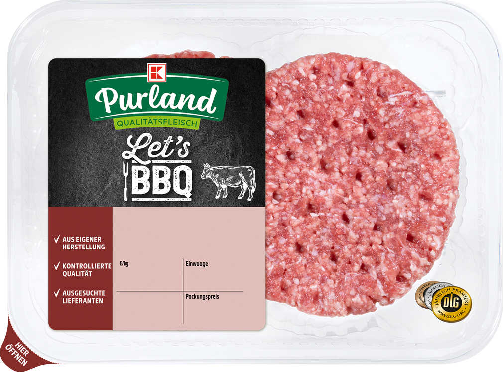 Abbildung des Angebots K-PURLAND Hamburger zum Braten, vom Rind