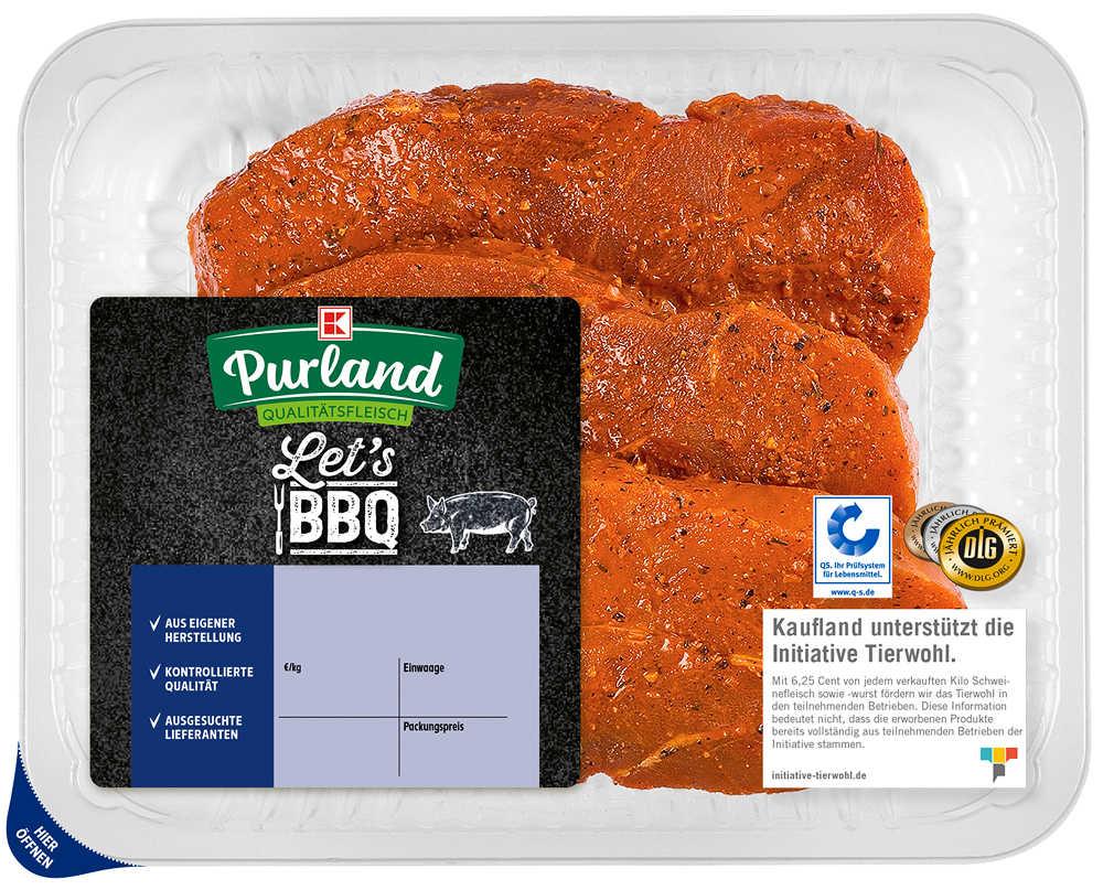 Abbildung des Angebots K-PURLAND Puszta-Steak Hüftsteak v. Schwein, mar.