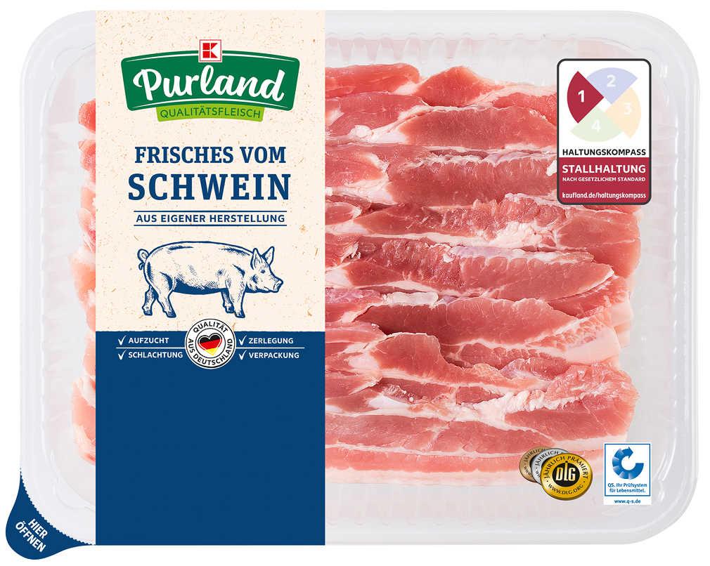 Abbildung des Angebots K-PURLAND Minutenbauch, vom Schwein