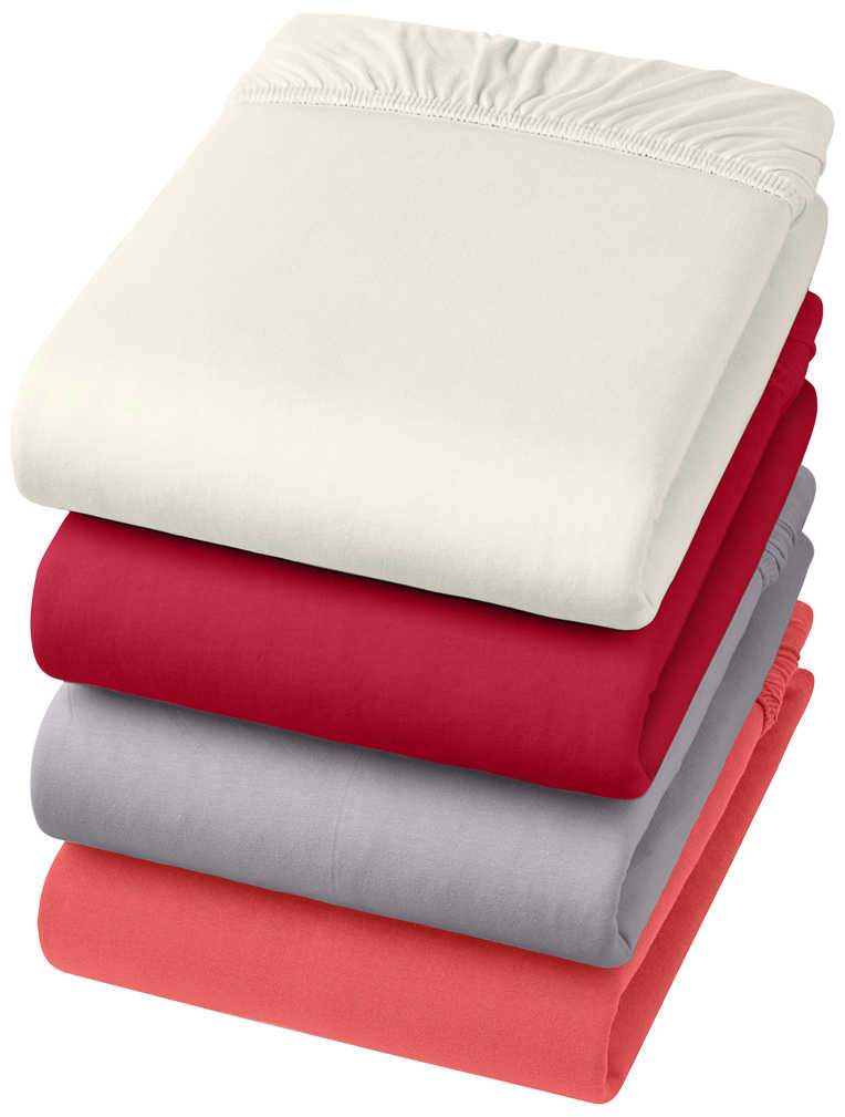 Abbildung des Angebots K-CLASSIC Jersey-Spannbetttuch Größe ca. 90 - 100 x 200 cm
