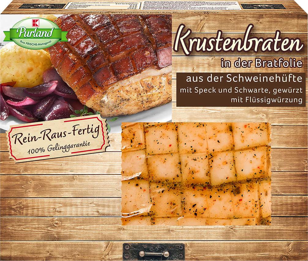 Abbildung des Angebots K-PURLAND Krustenbraten, gewürzt, aus der Schweinehüfte