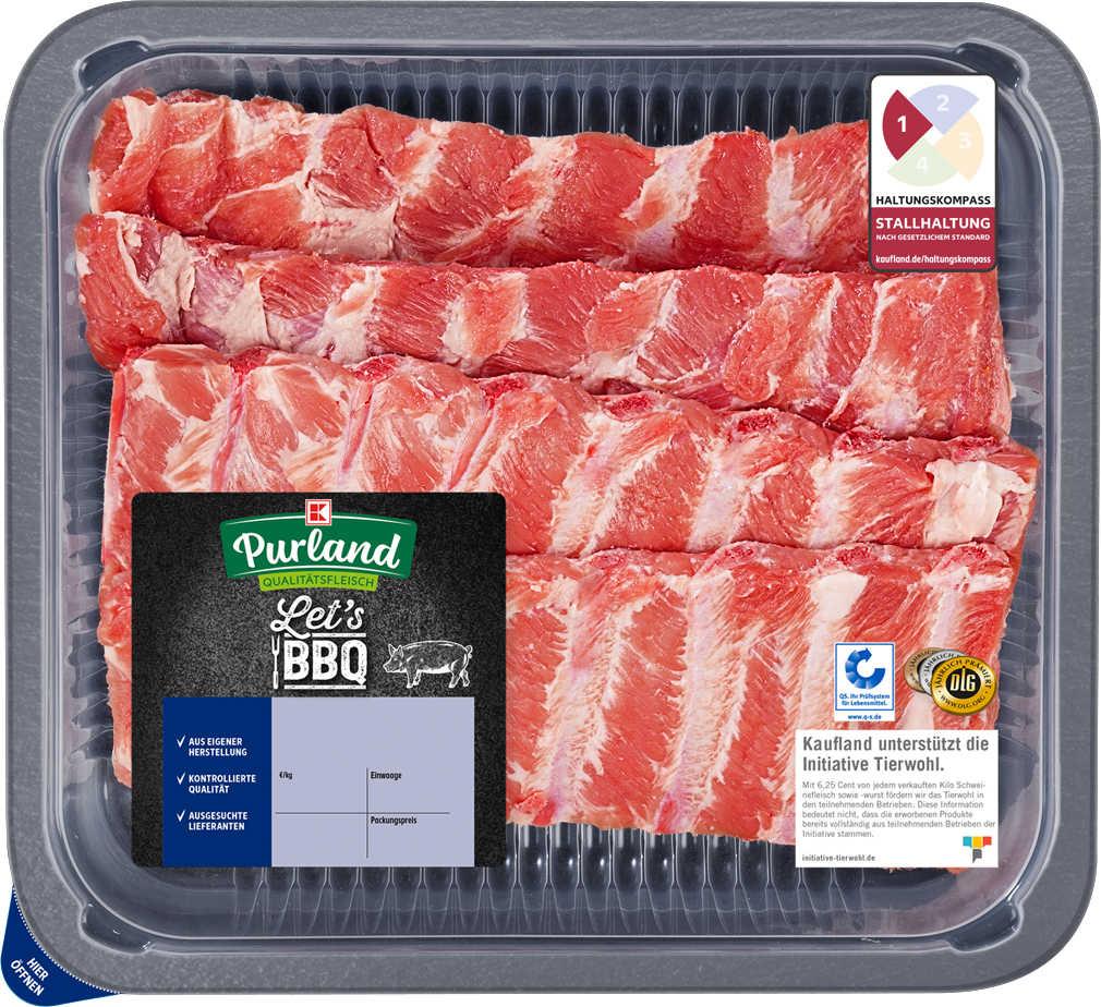 Abbildung des Angebots K-PURLAND XXL Schälrippchen/Spareribs vom Schwein, natur