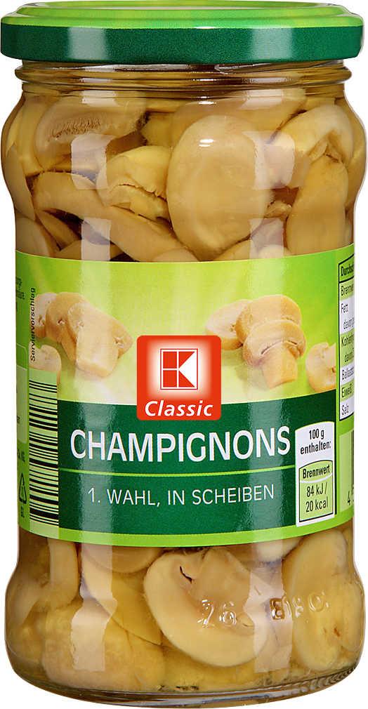 Abbildung des Angebots K-CLASSIC Champignons 1. Wahl
