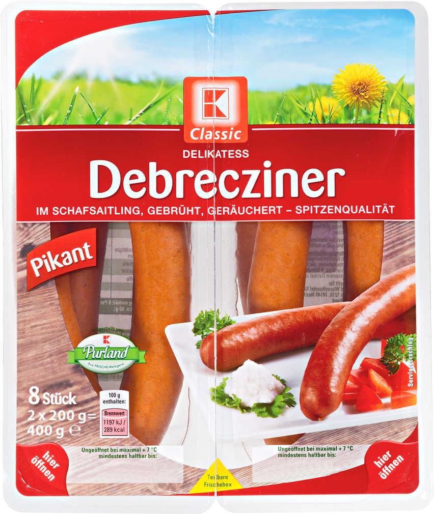 Abbildung des Angebots K-CLASSIC Delikatess Debrecziner