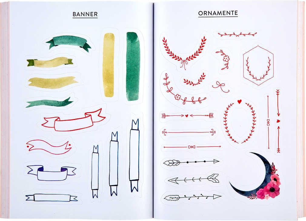 Abbildung des Angebots »Bullet Journal«-Stickerbuch
