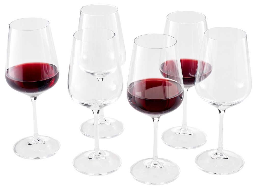 6 Weingläser 300ml ORANGE Rotweingläser Weinkelch Rotweinkelche Weißweingläser
