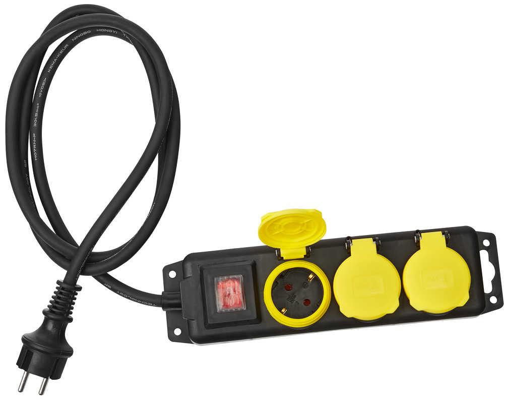 Dreifachstecker Mehrfachstecker Steckdosen Adapter Verteiler Leiste 3500W