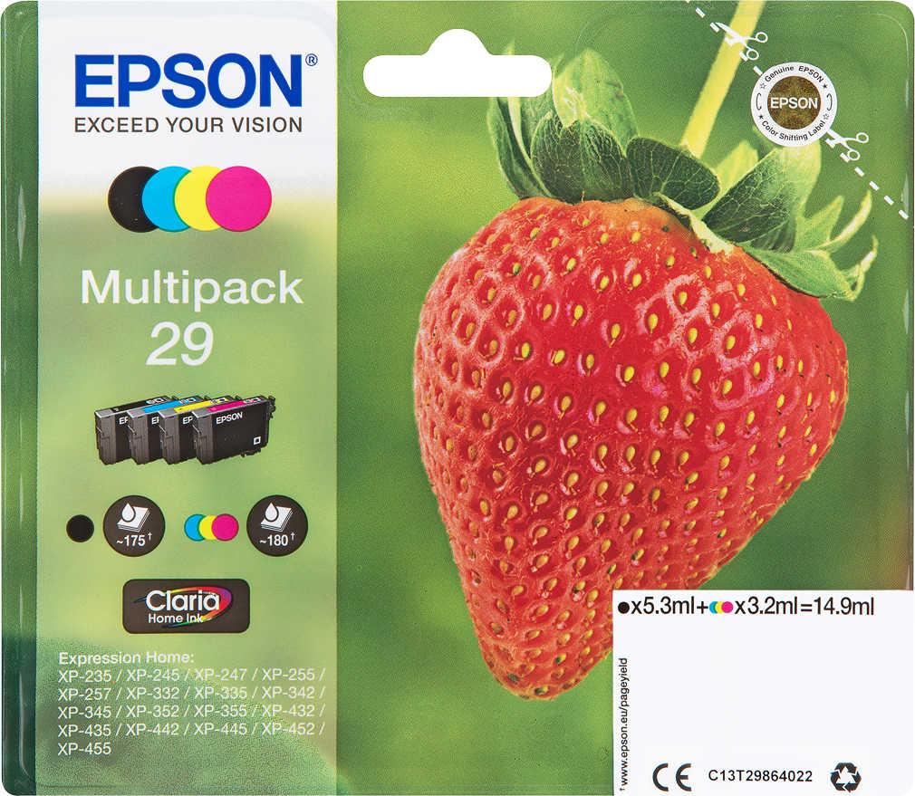 Abbildung des Angebots EPSON Druckerpatronen Nr. 29 Multipack 4-farbig