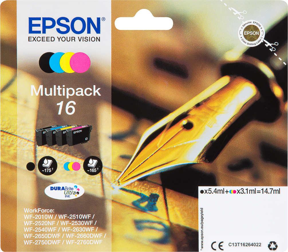 Abbildung des Angebots EPSON Druckerpatronen Nr. 16 Multipack 4-farbig