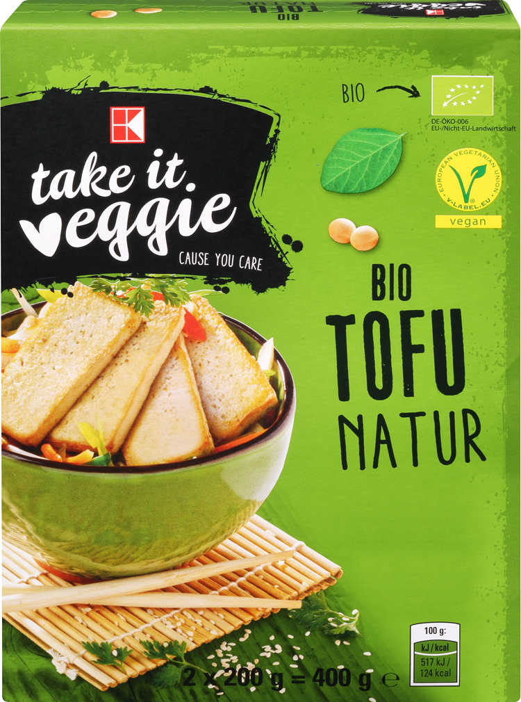 Abbildung des Angebots K-TAKE IT VEGGIE Bio-Tofu natur oder geräuchert