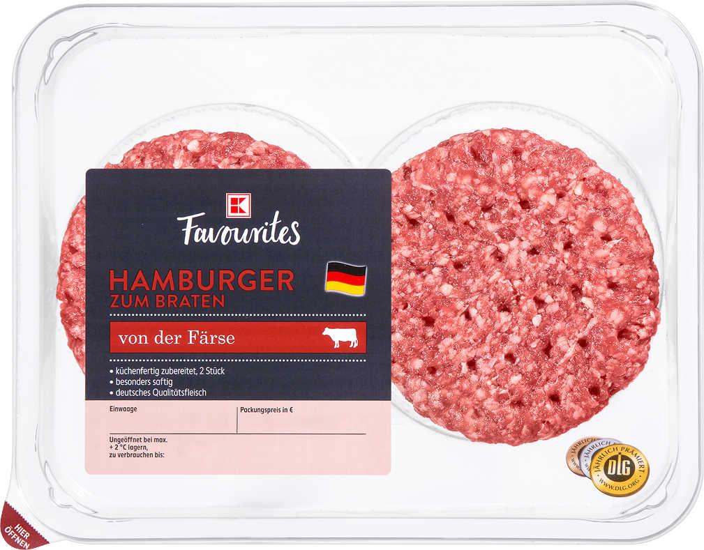 Abbildung des Angebots K-FAVOURITES Hamburger von der Färse