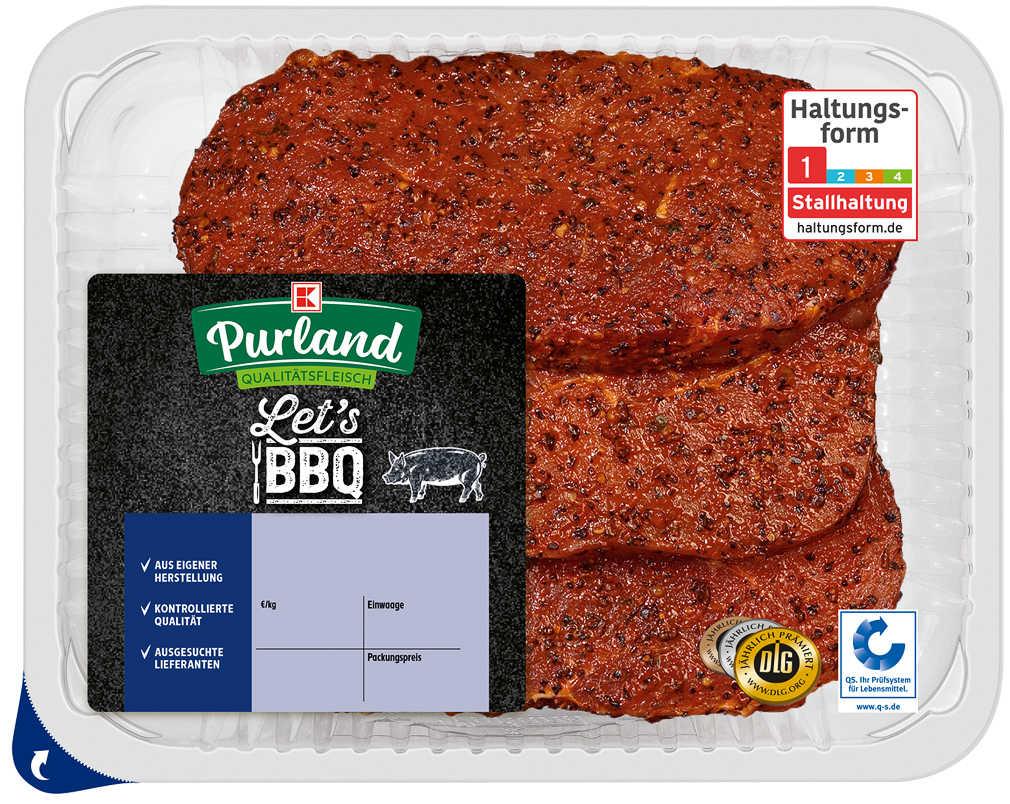 Abbildung des Angebots K-PURLAND Hüftsteak Pfeffer Style, vom Schwein, mariniert