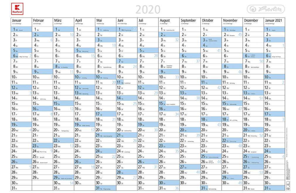 Abbildung des Angebots HERLITZ Wandplaner »2020«