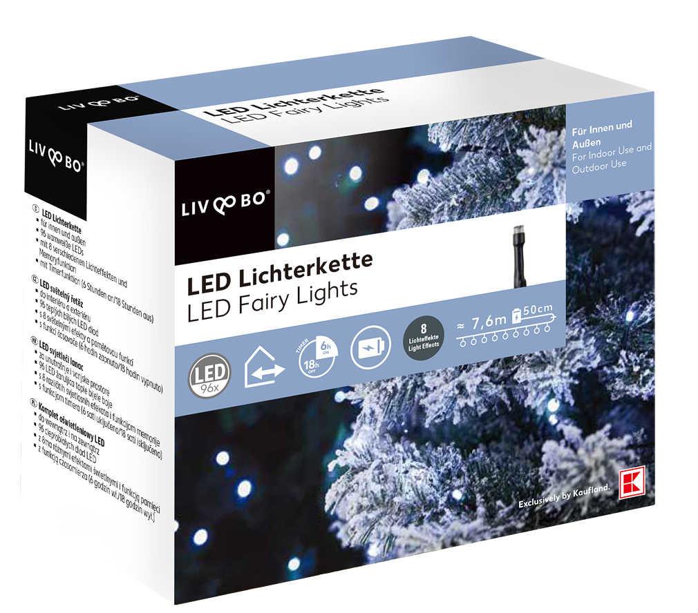 Abbildung des Angebots LIV&BO® LED-Lichterkette mit 96 LEDs