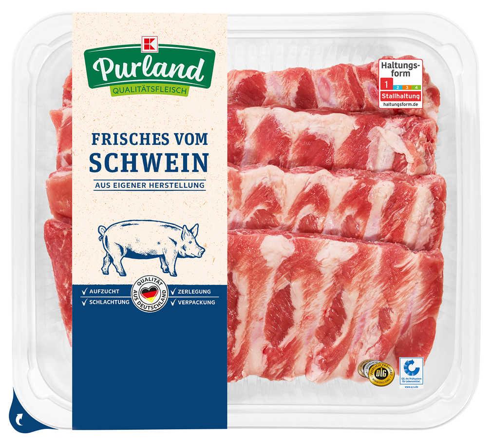 Abbildung des Angebots K-PURLAND Schälrippchen/Spareribs vom Schwein, natur, XXL-Pack.