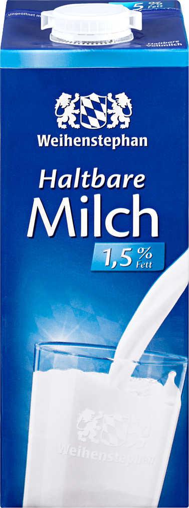 Abbildung des Angebots WEIHENSTEPHAN haltbare Milch 1,5 % Fett