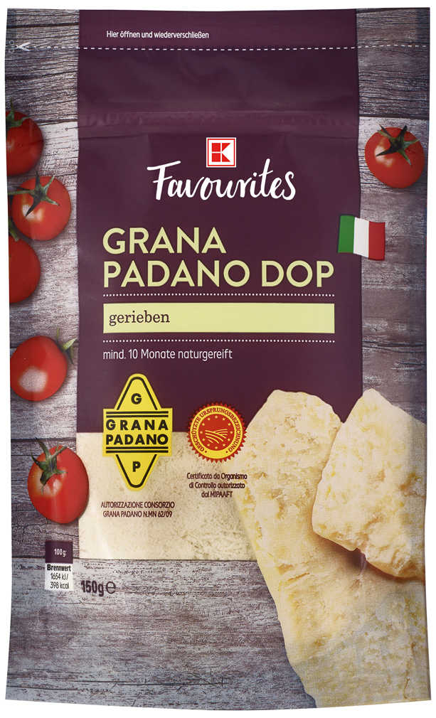 Abbildung des Angebots K-FAVOURITES Grana Padano DOP gerieben