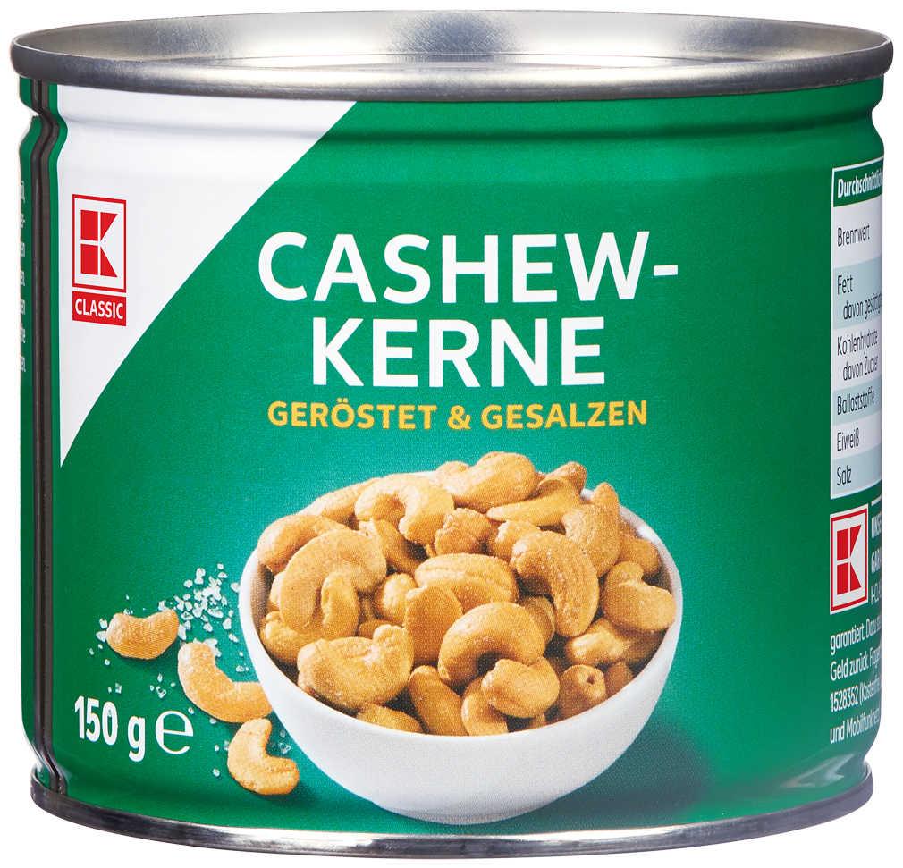 Abbildung des Angebots K-CLASSIC Cashewkerne versch. Sorten