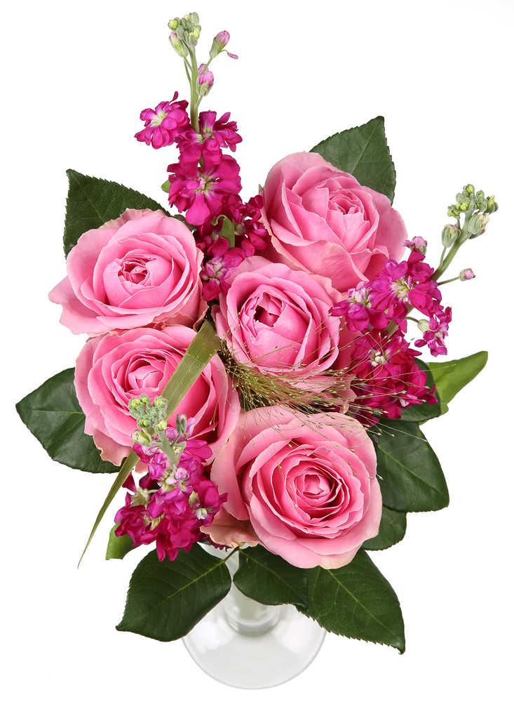 Abbildung des Angebots Levkojenstrauß mit Rosen