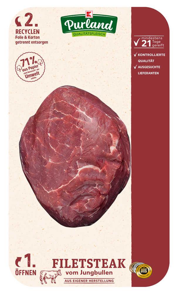 Abbildung des Angebots K-PURLAND Filetsteak, vom Jungbullen, gereift