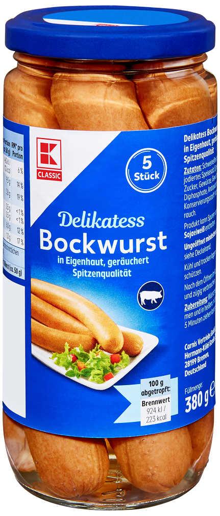 Abbildung des Angebots K-CLASSIC Bockwurst in Eigenhaut