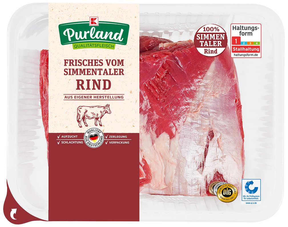 Abbildung des Angebots K-PURLAND Rinderbraten Hals/Hohe Rippe vom Simmentaler Jungbullen