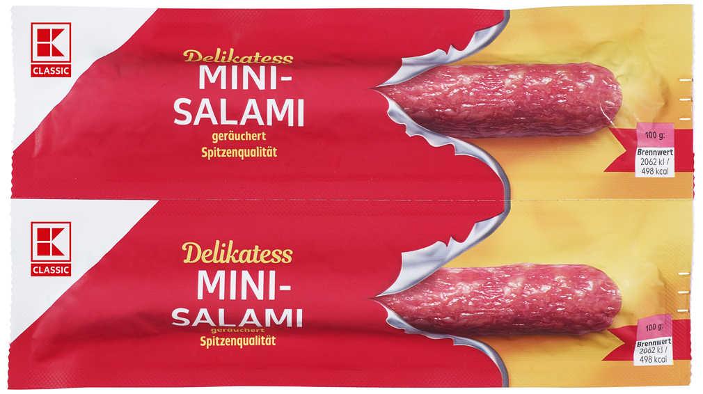 Abbildung des Angebots K-CLASSIC Mini-Salami oder Mini- Geflügel-Salami