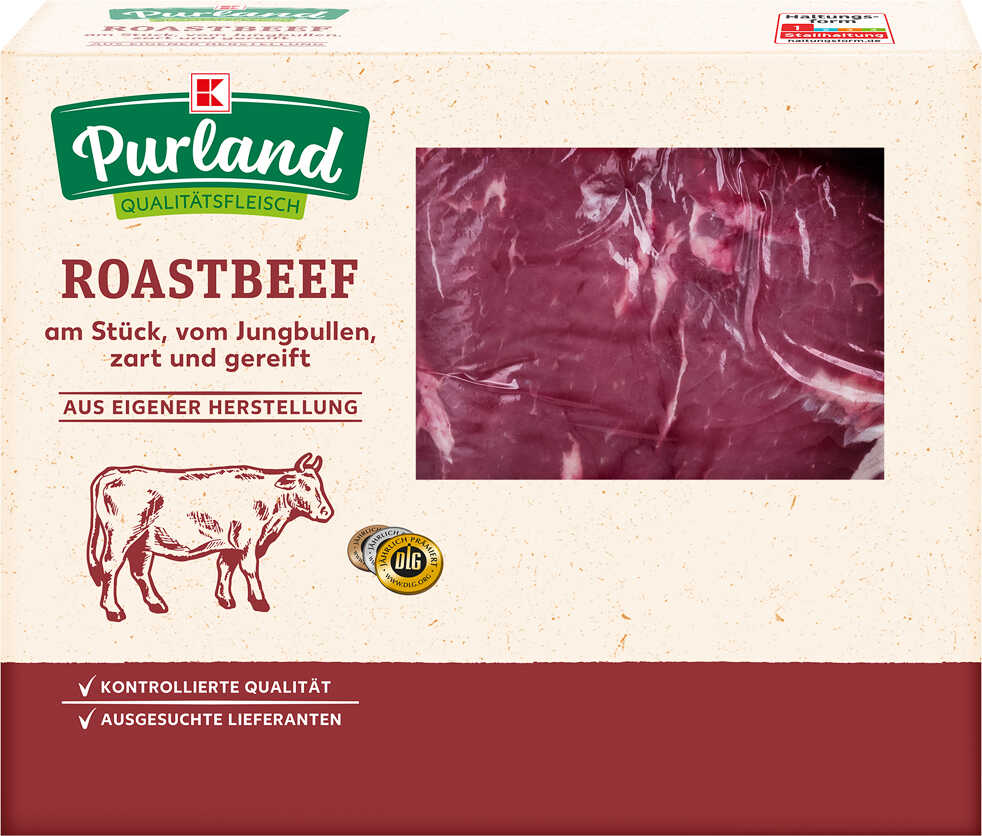 Abbildung des Angebots K-PURLAND Roastbeef vom Jungbullen, am Stück, gereift