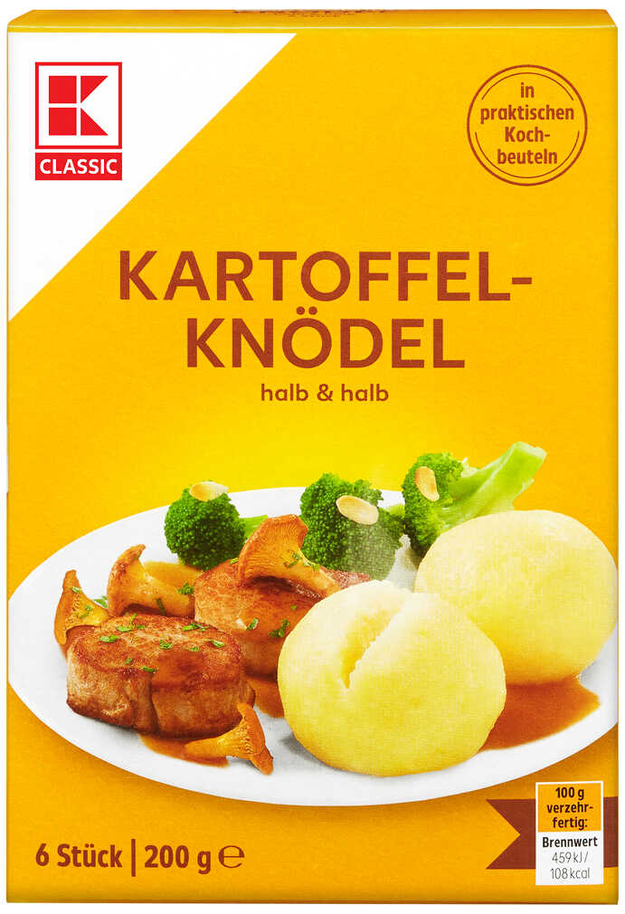 Abbildung des Angebots K-CLASSIC Kartoffelknödel halb & halb