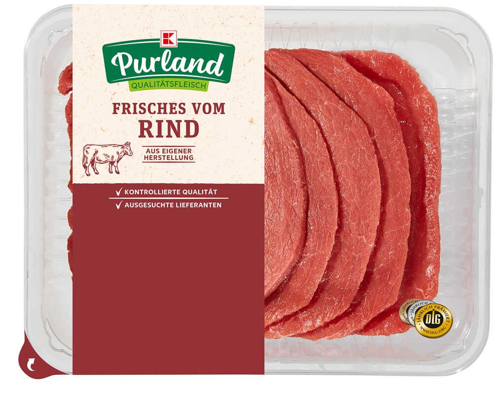 Abbildung des Angebots K-PURLAND Rinderminutensteaks vom Simmentaler Rind