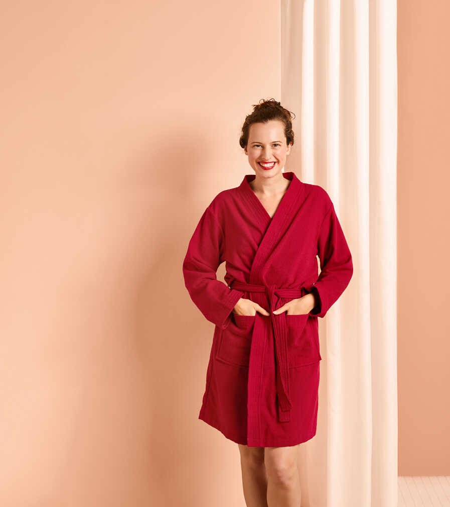 Abbildung des Angebots LIV&BO® Damen-Wellnessbademantel