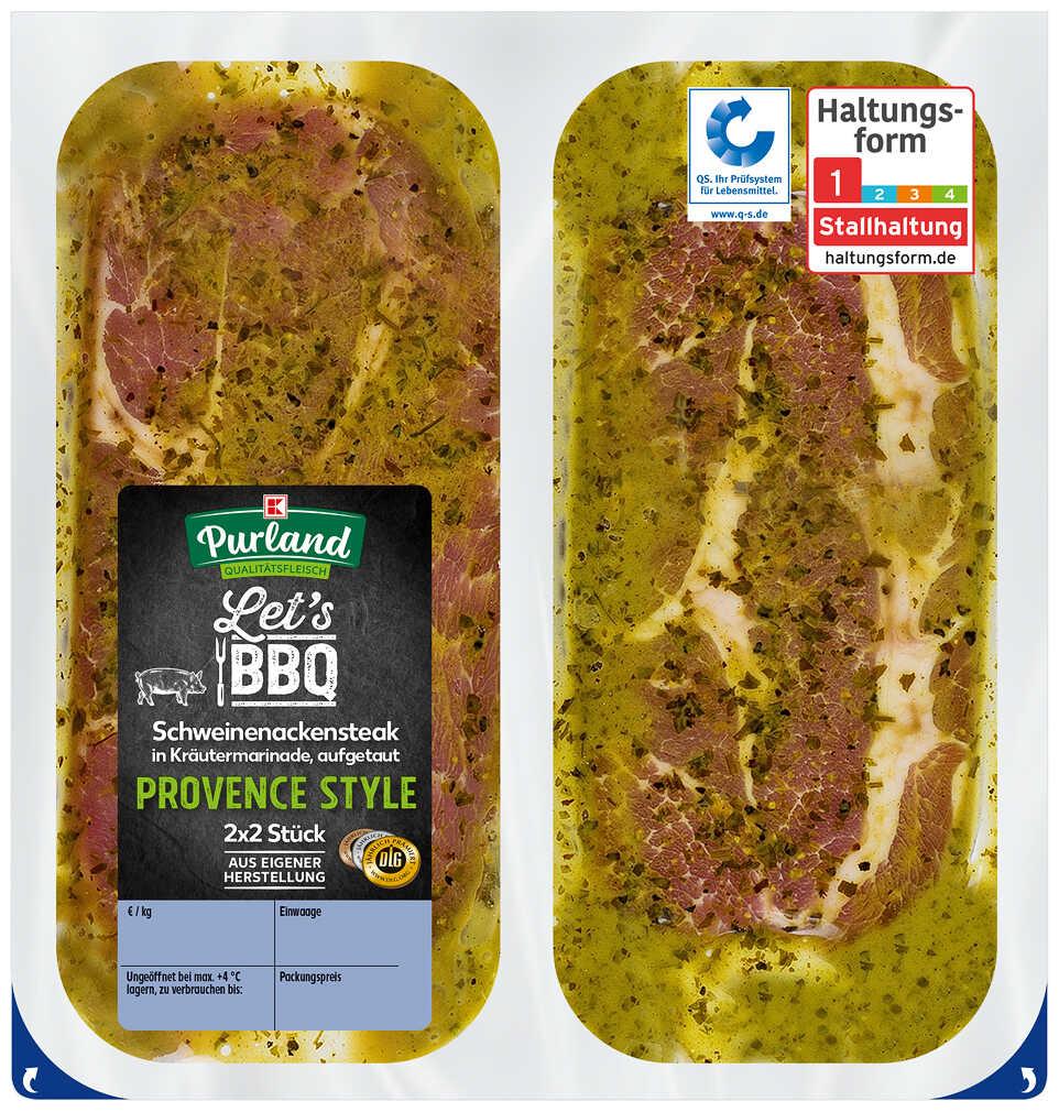 Abbildung des Angebots K-PURLAND Steak Provonce vom Schweinenacken/-kamm