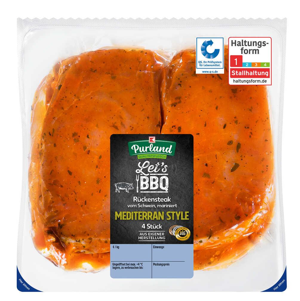 Abbildung des Angebots K-PURLAND Schweinerückensteak Mediterran Style