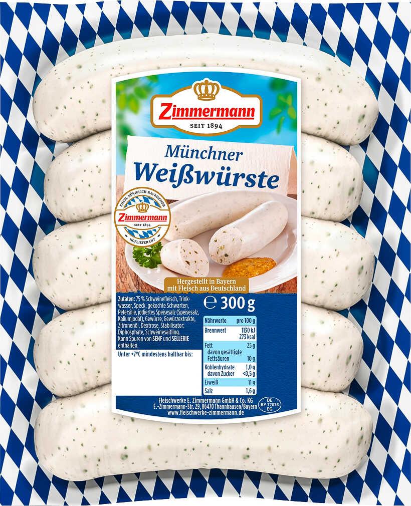 Abbildung des Angebots ZIMMERMANN Münchner Weißwürste