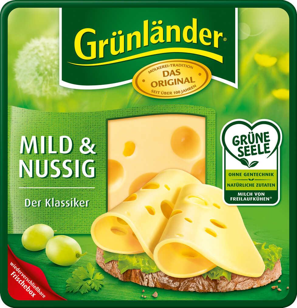 Abbildung des Angebots GRÜNLÄNDER Dtsch. Schnittkäse 48 - 53 % Fett i. Tr.
