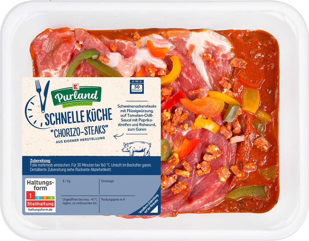 Abbildung des Angebots K-PURLAND Schnelle Küche Chorizo-Steaks